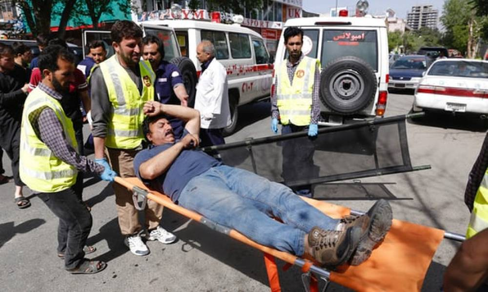More than 20 people dead as two explosions hit Kabul's city centre