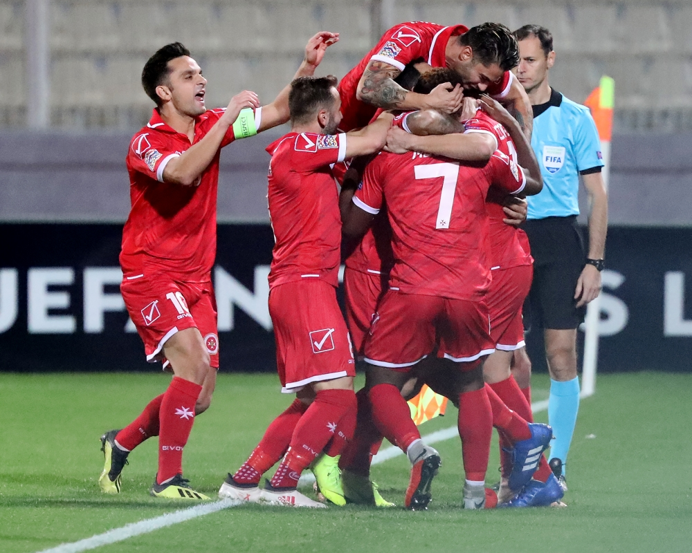 Malta's players end their commitments in the UEFA Nations League with a draw