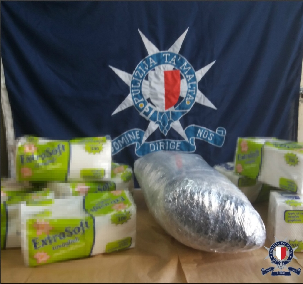 Updated | Police discover 25kg of cannabis in Sliema drug bust