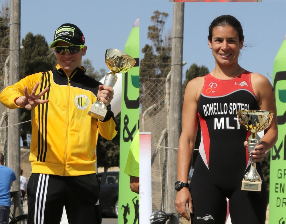 Keith Galea and Danica Bonello Spiteri crowned National Duathlon champions
