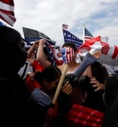 [WATCH] Fights erupt at pro-Trump rally on California beach