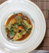 Artichoke and Maltese sausage stew
