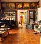 History buffs can explore treasures of Casa Rocca Piccola's private De Piro library