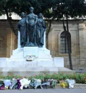Remembering Daphne Caruana Galizia with flowers