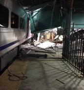 New Jersey Transit train crashes into Hoboken station
