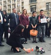 Candles lit in Brussels in remembrance of Daphne Caruana Galizia