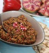 Muhammara roasted pepper dip