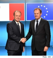 Tusk, Muscat discuss preparations for Malta Summit