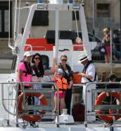 [WATCH] Michelle Muscat begins charity swim
