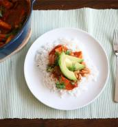 Sweet potato and cannellini bean stew