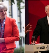 May and Corbyn set out opposing EU 'no deal' stances