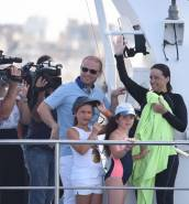 [WATCH] Michelle Muscat finishes charity swim