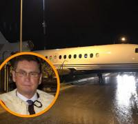 [WATCH] Private jet of Tory peer Lord Ashcroft 'taxies' off Malta apron into Polidano offices