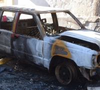 Flames engulf pickup truck in Gharghur, no one injured