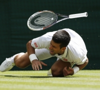 Relieved Djokovic advances after shoulder injury scare