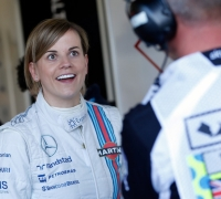 Rosberg fastest in British practice, Susie Wolff's Williams has fault
