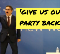 [WATCH] Adrian Delia beats the drums of war in rabble-rousing speech hitting out at PN's top brass