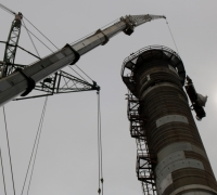 Dismantling of 1984 Marsa boiler chimney underway
