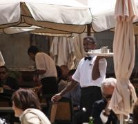 Waitering. It's a tough job, but someone's gotta do it