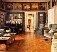 History buffs can explore treasures of Casa Rocca Piccola's private De Piro library
