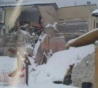 Wave of strong earthquakes shake snowbound central Italy, one dead