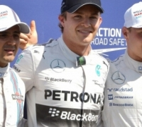 Rosberg on pole as Hamilton crashes out