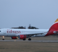 First Iberia Express airbus lands at MIA