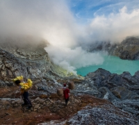 Majestic views and sulphur mining | Volcano Ijen, Indonesia