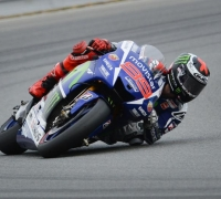 Lorenzo on pole after dramatic shootout with Rossi
