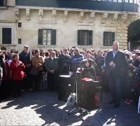 [WATCH] Joseph Calleja gives impromptu concert in Valletta