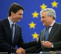 [WATCH] Trudeau hails EU-Canada deal 'an unprecedented model for peaceful cooperation'