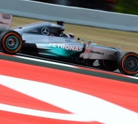 Hamilton leads Mercedes lock-out in Spain