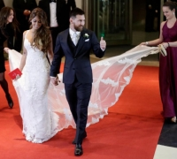 Lionel Messi marries childhood sweetheart, Antonella Roccuzzo