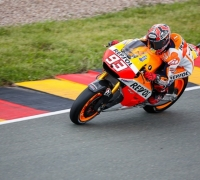 Márquez leads all-Honda front row in Germany