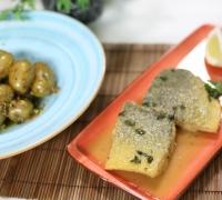 Meagre fillet fried in butter, marjoram and lemon