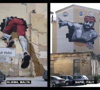 Sliema car park mural completed in southern Italy