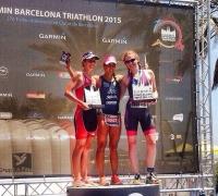 Success for local triathletes Hannah Pace and Graham Borg in the Garmin Barcelona Triathlon