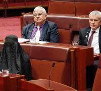 Australian far-right leader wears burqa in Senate