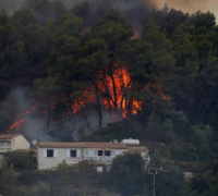 Wildfire destroys 1,400 hectares of forest in southern France
