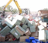 [WATCH] Over 500 counterfeit pairs of shoes destroyed by Customs