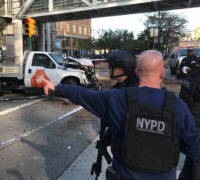 Developing story: At least eight dead as pick-up truck ploughs through bike lane in Manhattan
