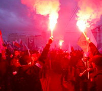60,000 nationalists take to the streets for Poland's independence day celebrations