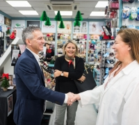 PN leader visits Attard shops, distributes party's retail policy document