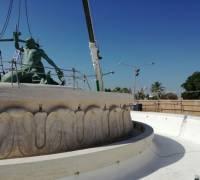 [WATCH] €4 million Triton Fountain restoration nears completion