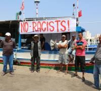 Fishermen prevent anti-migrant boat from docking in Tunisian port