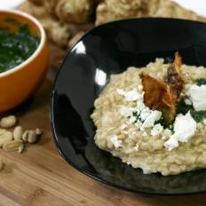 [WATCH] Jerusalem artichoke barley risotto