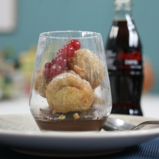 Chocolate fudge Coca-Cola tempura
