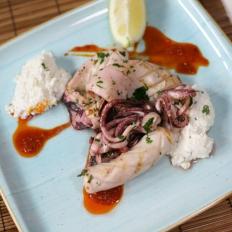 Calamari with nduja and ricotta