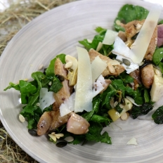 [WATCH] Hay smoked quail on a zingy herb salad
