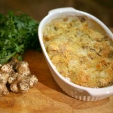 [WATCH] Lampuki bake with Jerusalem artichoke and breadcrumbs